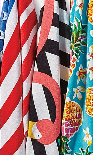 Beach towels, 50% off