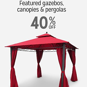 40% off select Gazebos, Canopies & Pergolas