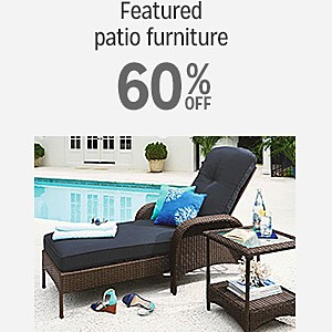 60% off select Patio Furniture