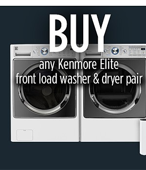 "Buy: Kenmore Elite 41682 4.5 cu. ft. Front-Load Washer with Steam & Kenmore Elite 81582 7.4 cu. ft. Electric Dryer with Steam Get: *Quantity 2 of Kenmore 51122 13.7"" Laundry Pedestal w/ Storage Drawer - White * QUANTITY 2 of PID: 02651122000P  Must buy a washer & dryer pair and get 2 free pedestals- Value of $579.98"