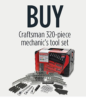 Buy: Craftsman 320-Piece Mechanic's Tool Set for $169.99  Get: Craftsman 10pc Ratcheting Combination Wrench Set Inch/Metric FREE. $79.99 value