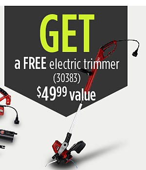 Buy Craftsman Corded Blower/Vac Kit and Get Electric trimmer 30383 free($49.99 value)