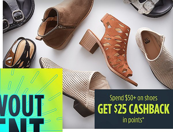 Summer Blowout Event | Spend $50+ on shoes�GET $25 CASHBACK �in points*