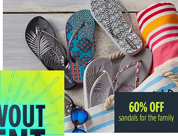 Summer Blowout Event | 60% off sandals for the family