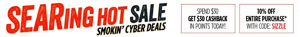 Searing Hot Sale 3 Days of Smokin' Cyber Deals