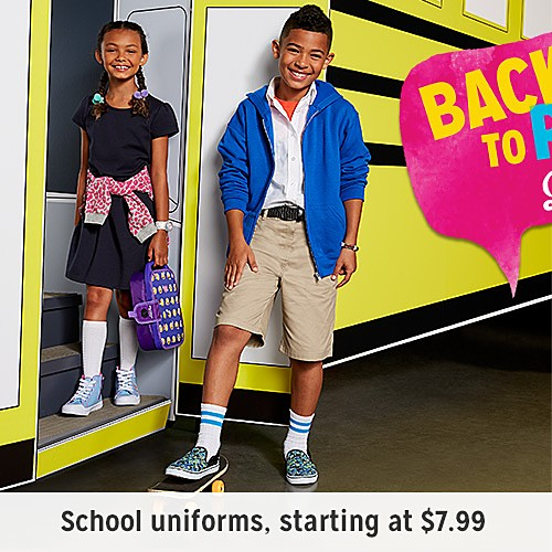 Back to school | School uniforms starting at $7.99