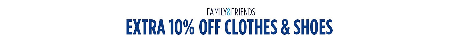 Extra 10% off clothes & shoes