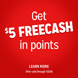 $5 FREECASH in points