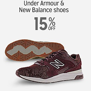 Under Armour & New Balance shoes 15%