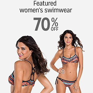 70% off women's swimwear