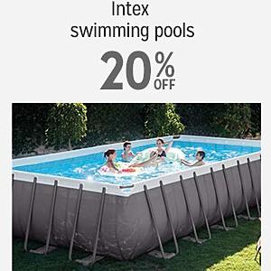 Intex swimming pools 20% off