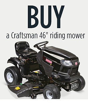 "Buy Craftsman 46"" Riding Mower and get a Bagger for Free (369.99 Value)"
