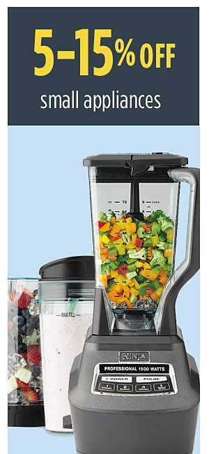 Summer Savings - Back to School | 5-15% off small appliances