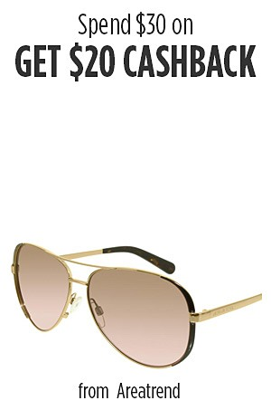 Spend $30 on  �Ray-Ban, Swatch & Oakley GET $20 Cashback �
