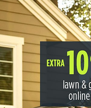 Up to 25% off lawn & garden