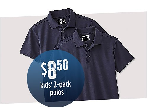 $10 Kids' 2-Pack Polos