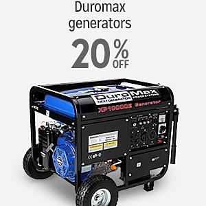 Up to 20% off Duromax generators