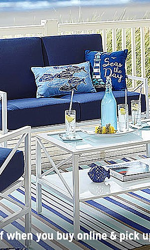 Patio furniture up to 50% off | Plus, extra 10% off when you buy online, pick up in store