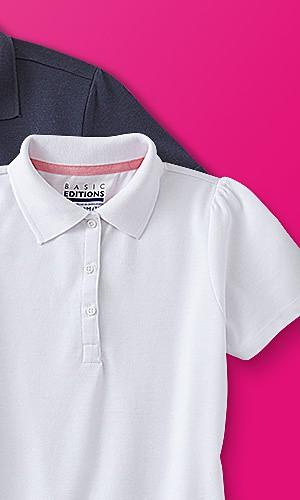 Kids' polo shirts 2-pack, $7