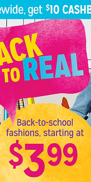 Kids' Back to School Fashions Starting at $3.99