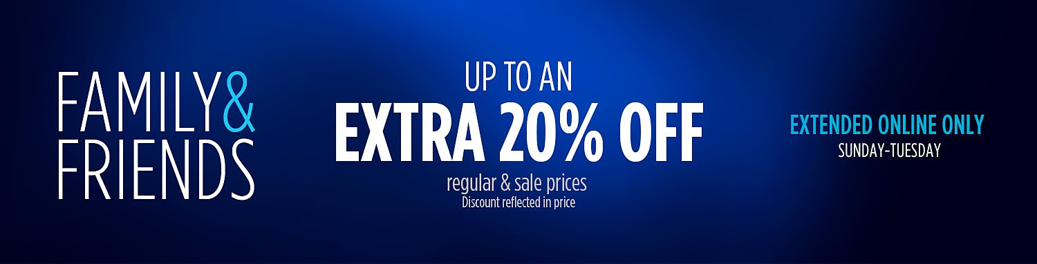 up to and extra 20% off
