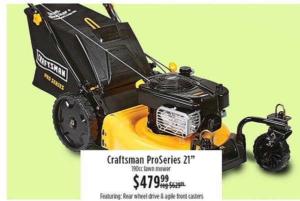 "Craftsman Proseries 21"" $479.99"