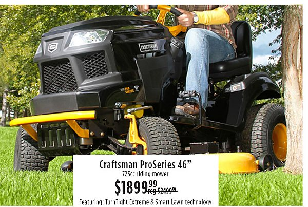 "Craftsman Proseries 46"" $1899.99"