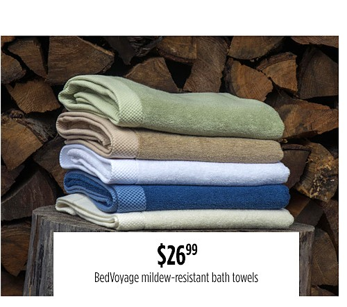 $26.99 mildew-resistant bath towels
