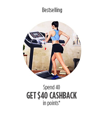 $40 Cashback in points on $40 on Bestselling