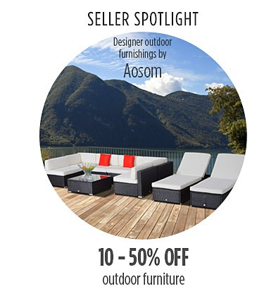 10% to 50% off on select outdoor living