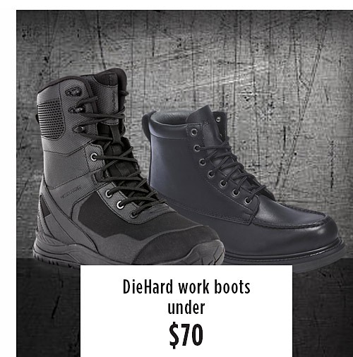 Die Hard workboots starting at $79.99