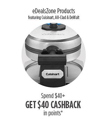 $40 Cashback in points on $40 on eDeals Zone