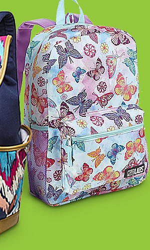 Kids' featured backpacks, 40% off