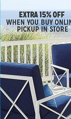 Patio furniture up to 50% off