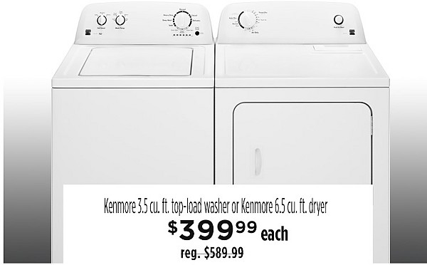 Kenmore Top load washer $399.99
