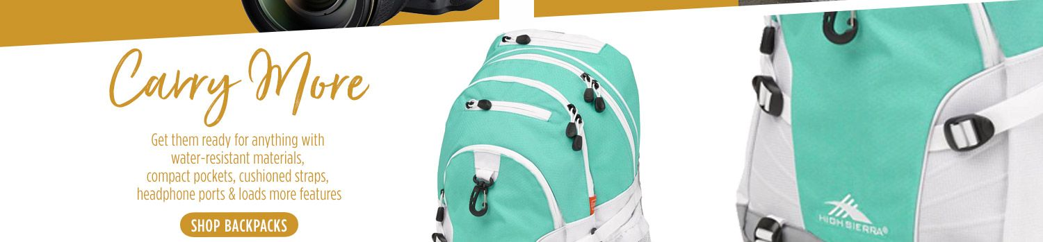 Backpack has a lot of great features: water-resistant, compact pockets