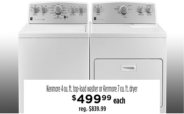 Kenmore Top load washer $499.99