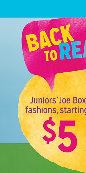 Juniors' Joe Boxer fashions, starting at $5