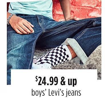 $24.99 & up boys' Levi's jeans