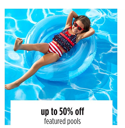 up to 50% off featured pools