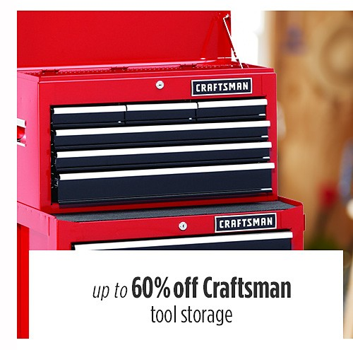 Up to 60% off Craftsman tool storage