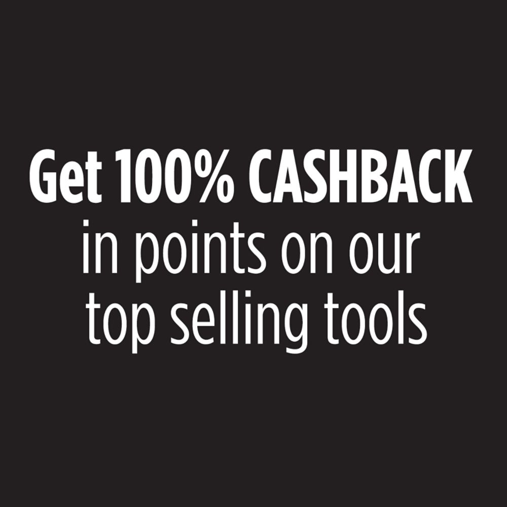 Get 100% CASHBACK in points on our top selling tools