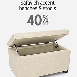 40% off Safavieh accent benches & stools