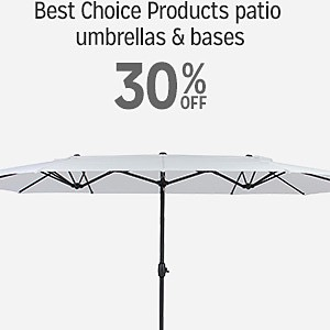 30% off Best Choice Products patio umbrellas & bases