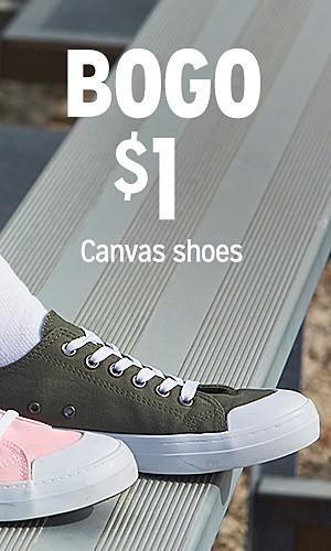 BOGO $1 Canvas Shoes