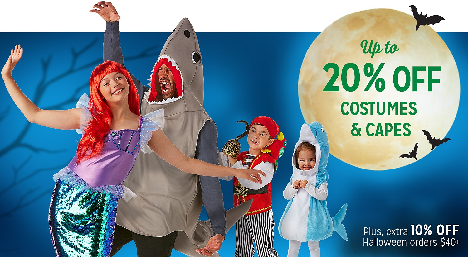 Up to 20% off Costumes & Capes