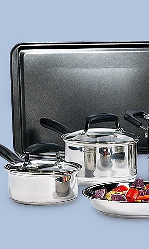 Essential Home 25-pc cookware set, $47.99
