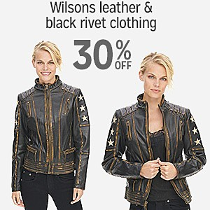 30% off Wilsons Leather & Black Rivet clothing