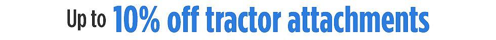 10% de descuento extra en anexos para tractores