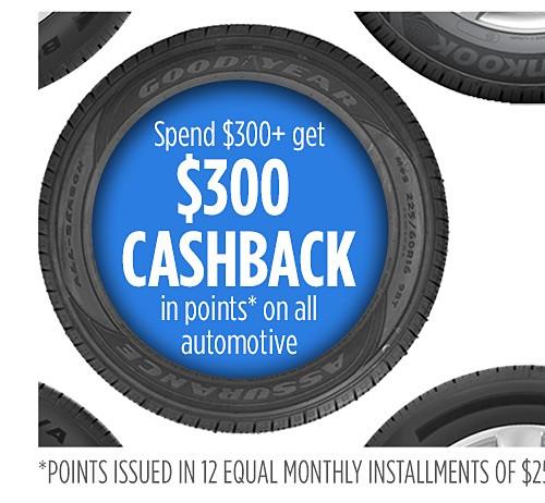 Spend $300+ Get $300 Cashback in points